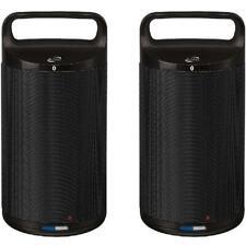 iLive Indoor/Outdoor Dual Bluetooth Speakers, Pair Wireless Black