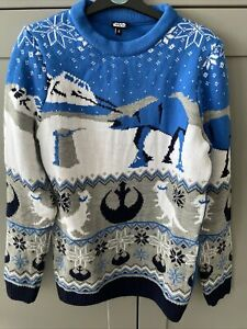 Official Star Wars Happy Hoth-idays Knitted Christmas Jumper Size: UK XS