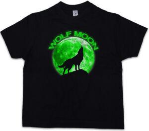 WOLF MOON Kids Boys T-Shirt Werewolf The O Werwolf Hurlements Howling Negative
