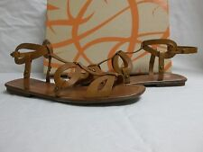 Via Spiga Size 7.5 M Donnie Tan Leather Gladiator Sandals New Womens Shoes