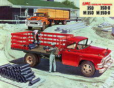 1955 GMC Stake Truck, Refrigerator Magnet, 40 MIL