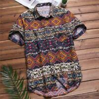 Mens Beach Hawaiian Shirt Tropical Summer Short Sleeve Shirts Tops Clothing New