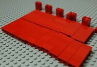 Lego red bricks bundle 1x1,1x2,1x3,1x4 + special pieces & corner #G276-80