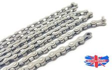 """Bicycle Single Speed Chain 1/2"""" x 3/32"""" 116 Link Complete Master Link Road Bike"""