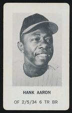 1970 Milton Bradley BASEBALL GAME -Hank Aaron (Atlanta Braves)