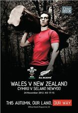 * 2012 - WALES v NEW ZEALAND - RUGBY PROGRAMME *