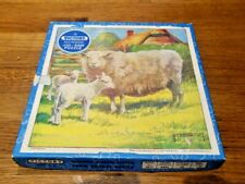 Vintage VICTORY  Plywood Jigsaw Puzzle, Farm Animal Series, 25 pieces, Ages 3-5