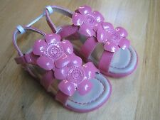 Toddler girl HOT PINK SHINY PATENT FLOWERS STRAPPY Sandals NWT 7