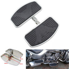 1 Pair Metal Steel&Rubber Motorcycles Chopper Front Rider Foot Pedal Floorboards