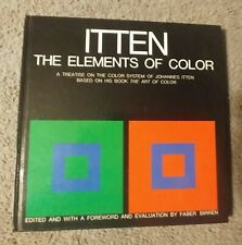 The Elements of Color - Itten 2001 hardcover no dj - writing in book