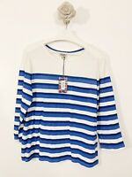 Heyton New With Tags Blue White 3/4 Sleeve Top Size XL Blogger Casual