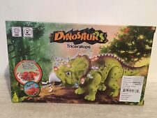 Triceratops Realistic Prehistoric Dinosaur Walking Light Up Action Toy