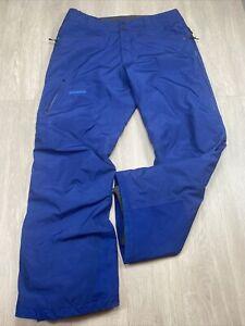 Patagonia Goretex Snow Pants Men's Large L Blue Color Ski Snowboard