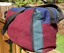 Vintage Heavy CANVAS Shoulder Bag Day Pack Backpack Hiking Rucksack Made in USA