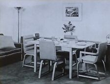 Dining-card Table and Chairs by Gilbert Rohde, Magic Lantern Glass Photo Slide