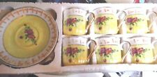 12 Pcs. 6 Cups & 6 Saucers Made in China  Not For Food Use Decoration only
