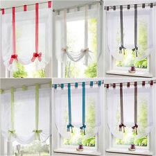 Voile Gardinen Schlaufen Raffrollo Lässig Vorhang Flächen mit Kräuselband 7Farbe