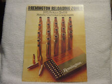 Remington Reloading Zone 1978 brochure components