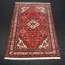 Alter Orient Teppich 150 x 100 cm Perserteppich Rot Herati Muster Old Carpet Rug