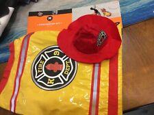 Pet Dog Cat Clothes Firefighter Set Size MediumVest Hat