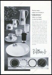 1970 Block China Creation Gold Echo Image Orbit photo B Altman vintage print ad