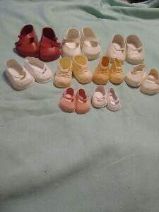 Lot of 9 Pirs Antique/Vintage Plastic Shoes