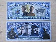STAR TREK BEYOND 2016 Adventure TV Show <^> $1,000,000 One Million Dollar Bill