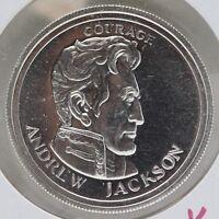 Andrew Jackson Art Medal .999 Silver 1/2 oz Round - Liberty Lobby - JB469