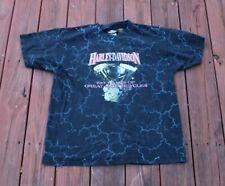 Vtg Harley Davidson Thunder Lightning Sky All Over Print T Shirt 100 Years 2003