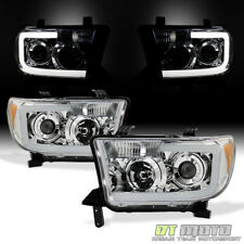 2007-2013 Toyota Tundra 08-17 Sequoia LED Tube Projector Headlights Headlamps