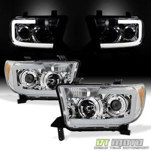 For 2007-2013 Toyota Tundra Pickup 08-17 Sequoia LED Tube Headlights Headlamps