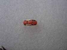 VINTAGE BEAUTIFUL  PINK JADE COCKTAIL RING 14 KARAT YELLOW GOLD SIZE 7.5