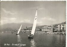 160882 GENOVA CITTÀ - PRA PRÀ SPIAGGIA - VELE Cartolina FOTOGRAF. viaggiata 1952