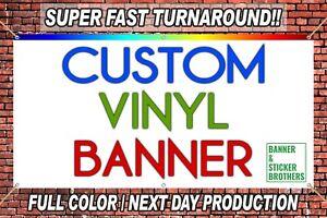 3'x5' CUSTOM VINYL BANNER (FULL COLOR HIGH QUALITY) - FREE DESIGN INCLUDED