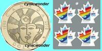 2017 Canada Gay Marriage Mini-pane Of 4 Stamps & 2019 Equality $1 Coin Sc# 3007a