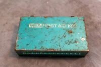 MSA First Aid Kit Metal Box Vintage Mining Equipment Medicine