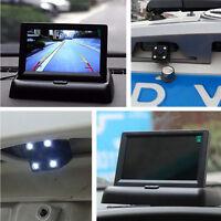 """4LED Night Vision Car Reversing Parking Camera 4.3"""" Foldable LCD Monitor Display"""