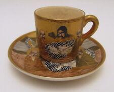 Excellent Antique Meiji Period Satsuma Dragon Demitasse Cup & Saucer 1868-1912
