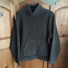 Vintage Green Teddy Fuzzy Pullover High Neck Cozy Sweater Loungewear