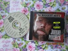 Johnny Paycheck ‎– 16 Biggest Hits Epic Records  ‎– EK 69968 CD Album