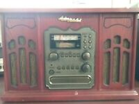 Anders Nicholson E-6906 AM/FM Rec Turntable Cassette CD Player Recorder & Remote