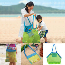 Portable Sand Object Collect Mesh Bag Tote Kids Beach Toys Storage Bag Net Shell