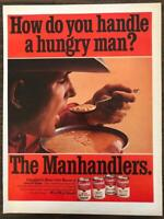 ORIGINAL 1968 Campbell's Soup PRINT AD The Manhandlers