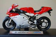 Motorbikes, MV Agusta F4S, Silver/Red,  New & Sealed 1/18