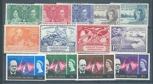 Somaliland 1938-51 sg.95, 97, 103-4, 109, 128-30 MH