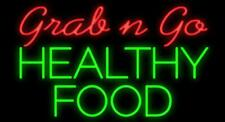 "New Grab n Go Healthy Food Restaurant Open Beer Bar Neon Light Sign 24""x20"""