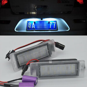 2x LED LICENSE PLATE LIGHT For Cadillac XTS 2013-2017 CTS Wagon SRX Buick Encore