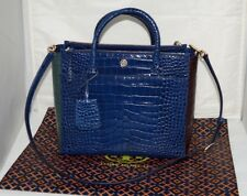 NWT Authentic TORY BURCH PARKER Croc Embossed Satchel/Crossbody Bag