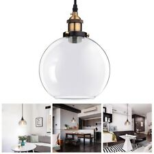 Ceiling Pendant Light Glass Ball Lamp Shade Holder Industrial Vintage Chandelier