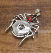 NEW spider Crystal Alloy Pendant for Fit Noosa Necklace Snap Chunk Button #R127